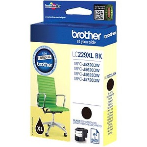 Inkt Brother LC229XL Black - zwart (2400 pages)