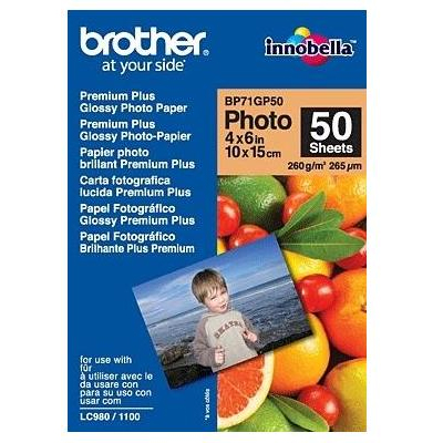 BROTHER BP71GP50 GLOSSY PAPER 10x15 (50