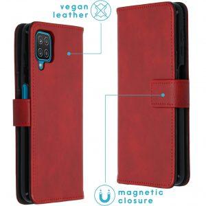 Luxe Booktype voor de Samsung Galaxy A12 - Rood