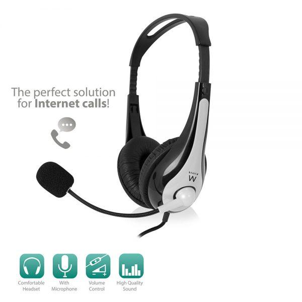 headset ewent met microfoon ew3562