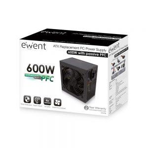 Behuizing Voeding Ewent PC voeding 600W, ATX EW3908