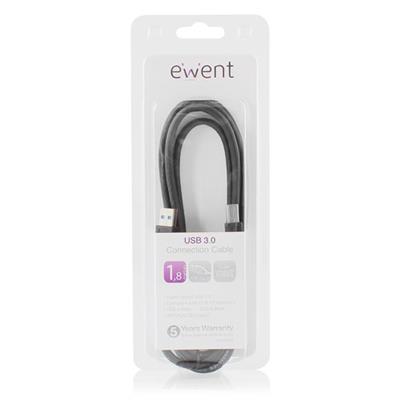 Ewent USB 3.0 A-B Kabel 1.8m A Male - B Male