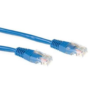 Netwerk kabel ACT 0,5 meter U/UTP CAT6 patchkabel met RJ45 connectoren