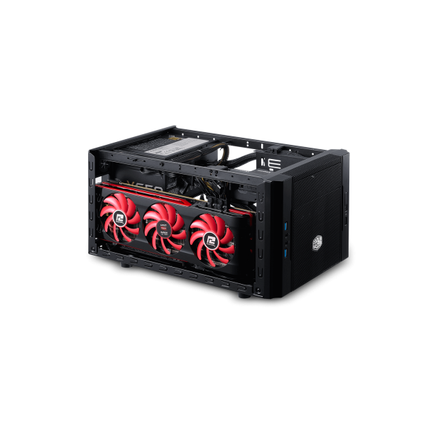 Behuizing PC ITX Cooler Master Elite 130 (HTPC,Mini-ITX,No PSU,Black)