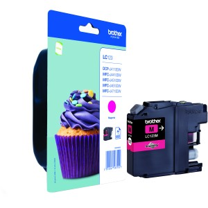 Inkt Brother LC123 Magenta (600 pages)