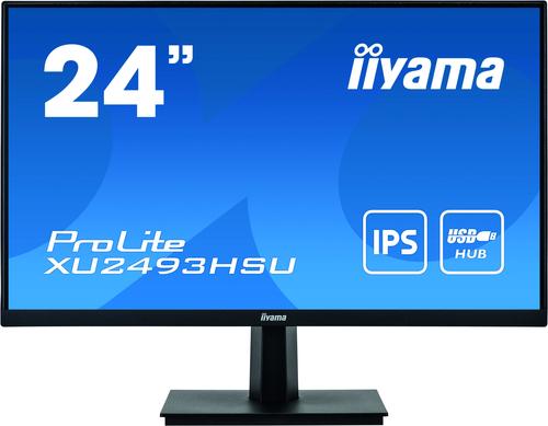 """IIYAMA 24""""WIDE FHD IPS VGA HDMI DP USB Black"""