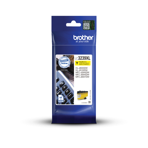 Inkt Brother LC 3239XL Yellow 5000p 5%