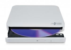 HITACHI DVD-RW 8X EXTERN SLIMLINE White USB2.0 + USB-C CABLE