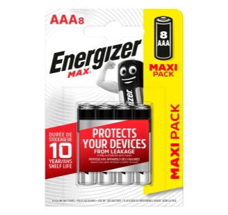 Batterijen Energizer Max AAA 6+2 free