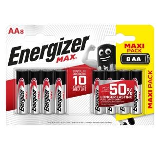 Batterijen Energizer Max AA 6+2 free
