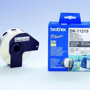 Brother DK11219 Thermal Label - 12 mm x 12 mm Length - Direct Thermal - 1200 Label