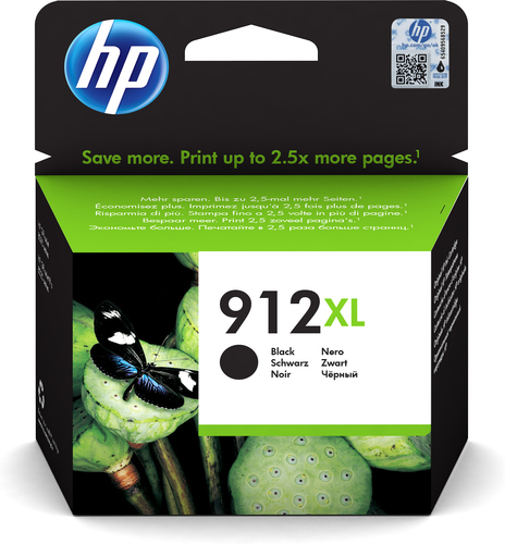 inkt HP 912XL zwart 825p