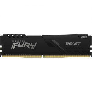 Geheugen DDR4 Kingston 16GB 2666MHz CL16 DIMM FURY Beast Black