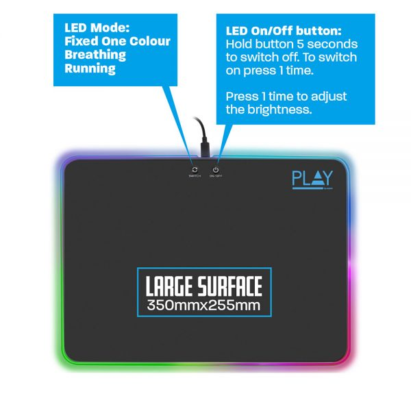 Muismat Ewent Gaming met RGB-verlichting
