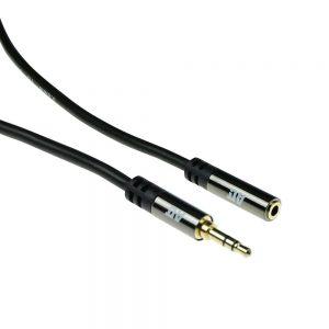 Kabel audio ACT 3 meter High Quality verlengkabel 3,5 mm stereo jack male - female